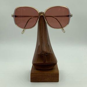 Vintage Oleg Cassini 400 81 Violet Oval Sunglasses